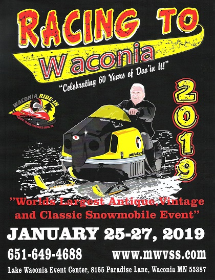 The Waconia Ride In Midwest Vintage Snowmobile Show