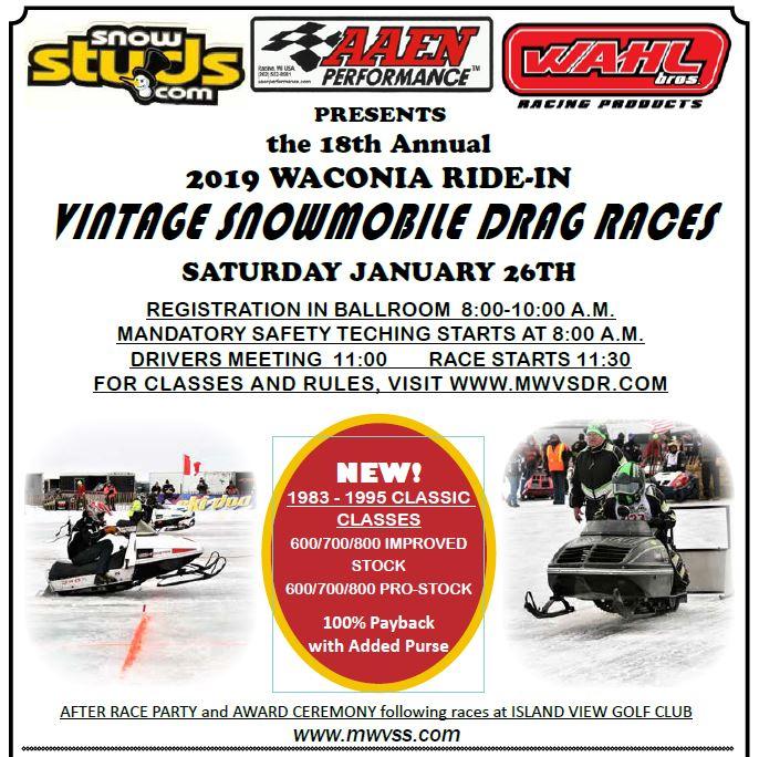 Waconia Racing Vintage Snowmobile Racing   MWVSS
